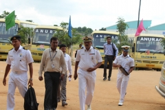 welcoming Indian Navy Officers